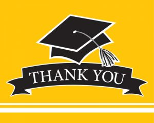 Graduation Thank You Notes Yellow