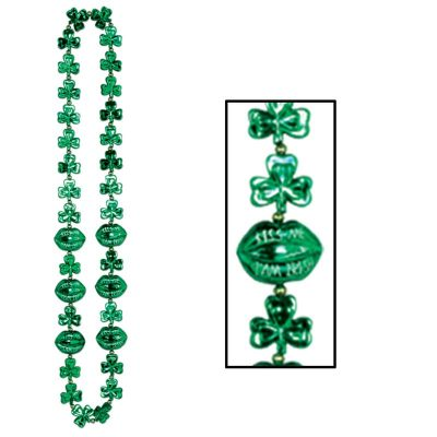 Shamrock Beads w Kiss Me Lips