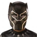 Plastic Childs Black Panther Super Hero Face Mask