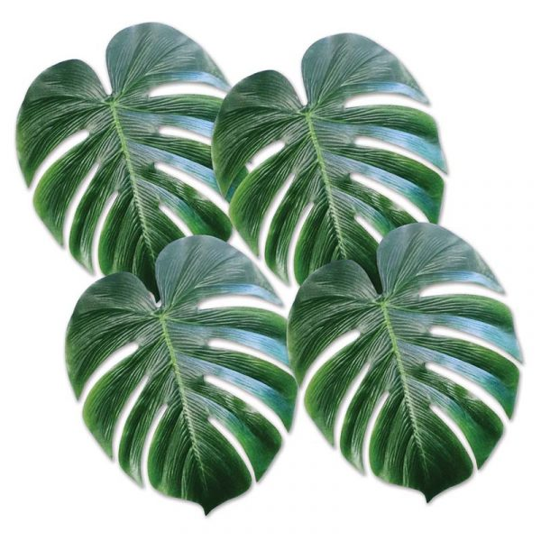 13 Inch Large Green Tropical Palm Leaves