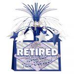 Retired Now the Fun Begins Centerpiece