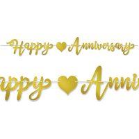 Foil Happy Anniversary Streamer
