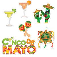 Cinco De Mayo Cutouts Maracas Pinata Margaritas