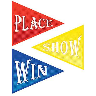 Win Place Show Cutouts Horse Racing KY Derby