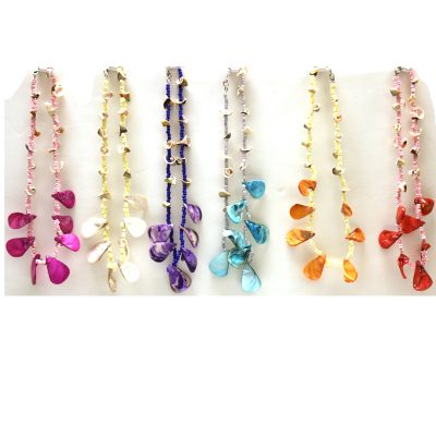 Mixed Seashell Choker Bead Necklaces