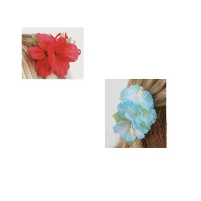 Silk Tropical Hibiscus Flower Hair Clip