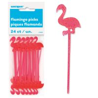 Small Plastic Pink Flamingo Picks for Hors D'Oeuvres