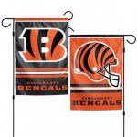 12 Inch x 18 Inch Cincinnati Bengals Fabric Garden Flag