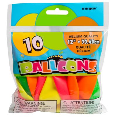 Neon balloons 10 per package