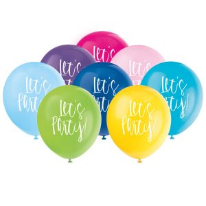 Lets Party Printed Balloons 12 Inch Printed Round Latex
