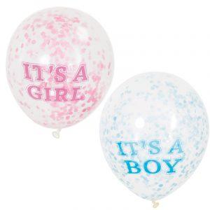 12 Inch Baby Shower Confetti Balloons Boy or Girl