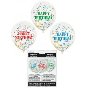 12 Inch Printed Happy Birthday Balloons