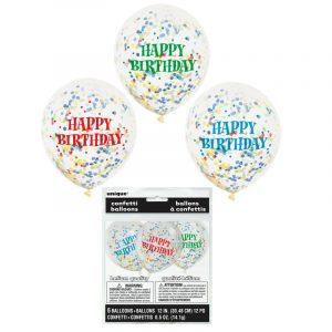 12 Inch Printed Happy Birthday Balloons
