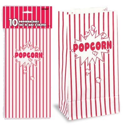 10 Inch Paper Popcorn Bags Movie Night Party Supplies