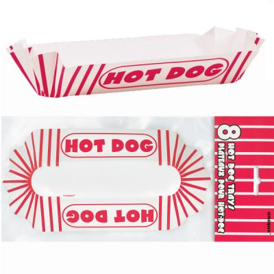 8 Coated Cardboard Hot Dog Trays