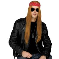 Costume Rockin 80s Long Straight Grunge Wig Axle Rose