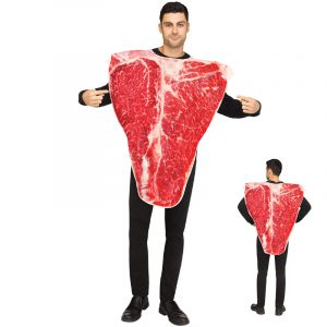 Piece of Meat T-Bone Steak Halloween Costume
