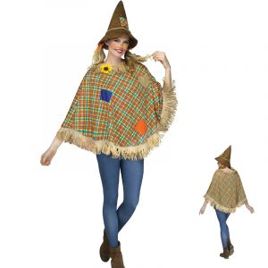 Scarecrow Poncho Fall Halloween Costume