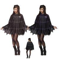 Spider Web Poncho Halloween Costume