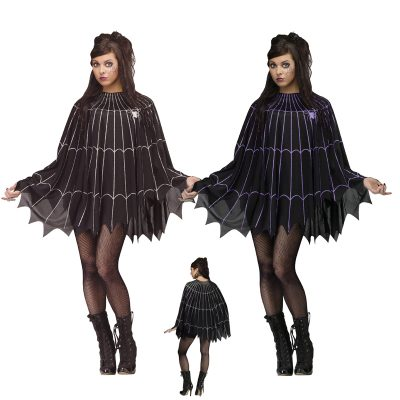 Spider Web Poncho Halloween Costume