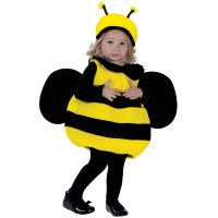 Fuzzy Bumble Bee Toddler Halloween Costume