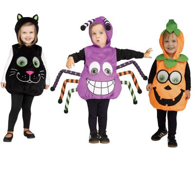 Googly-Eye Cat Pumpkin Spider Toddler Costume