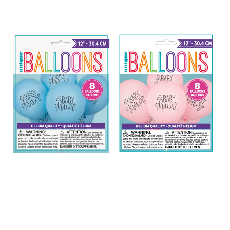 86bf6acf8 Buy Printed Latex Baby Shower Balloons Package of 8 - Cappel's