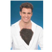 Costume Hairy Chest Piece with Self Adhesive strip