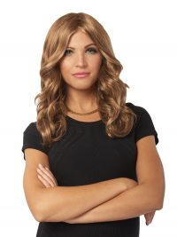 FLOTUS Wig Mrs Prez Long Brown Wavy Hair
