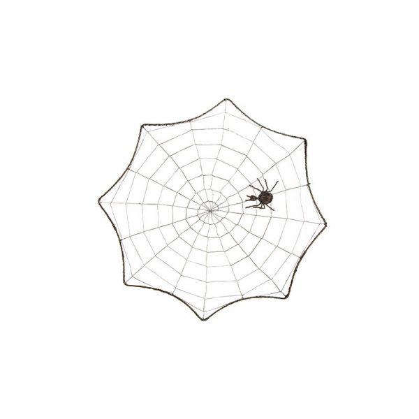 17 Inch Woven Spider Web w Spider