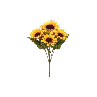 Silk Sunflower Bush x 8 Flowers Fall Decoration