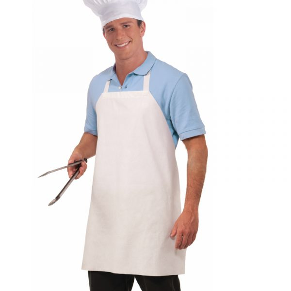 Adult White Paper Chef Apron