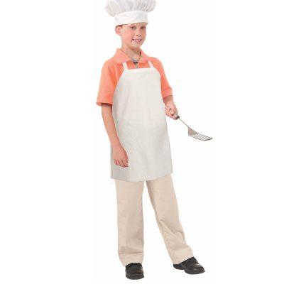 Childs White Paper Chef's Apron