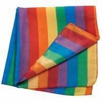 Deluxe Fabric Rainbow Bandanna 21 x 21