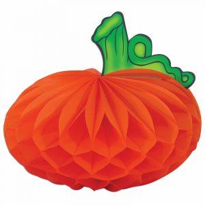 10 Inch Tissue Honeycomb Paper Pumpkin Decoration