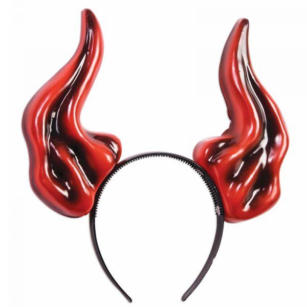 Costume Plastic Demon Horns Headband