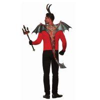Costume Fabric Demon Wings n Tail Red Black