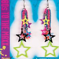 Costume 80s Multi-Star Drop Earrings Pair