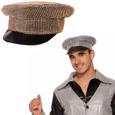 Disco Rhinestone Covered Officer Hat