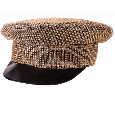 Disco Gold Rhinestone Covered Officer Hat