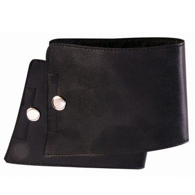 Costume Black Leatherette Wrist Cuffs