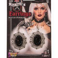 Costume Dark Royalty Sparkle Earrings Pair