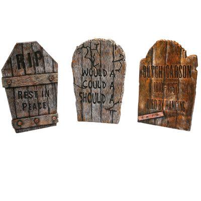 22 Inch Foam Wood-Look Tombstone