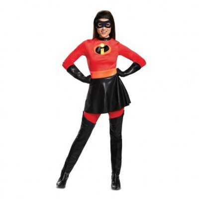 Mrs. Incredible Skirted Disney Adult Halloween Costume