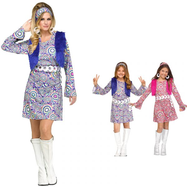 Groovy 60s Shaggy Chic Dress Adult and Child sizes
