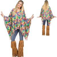 Hippie Poncho w Tye Dye Print
