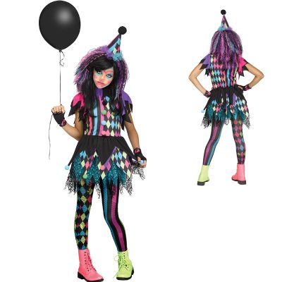 Twisted Circus Clown Child Youth Costume