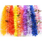 Basic Silk Lei Mix. An assorted mix of mostly solid color blossom leis.