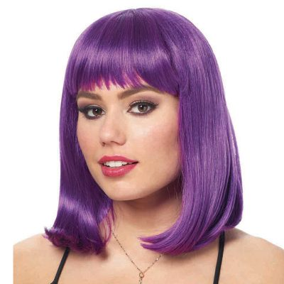 Peggy Sue Dark Purple Shoulder Length Wig