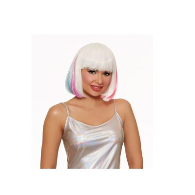 Hidden Rainbow Bob Wig White Primary Rainbow
